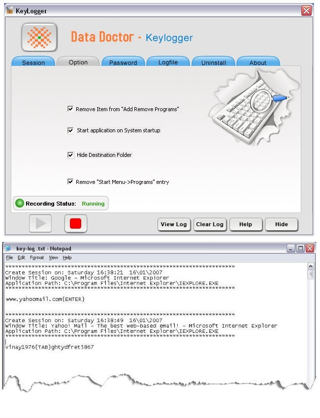 Keyboard Monitoring Tool