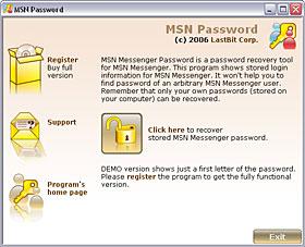 MSN Messenger Password