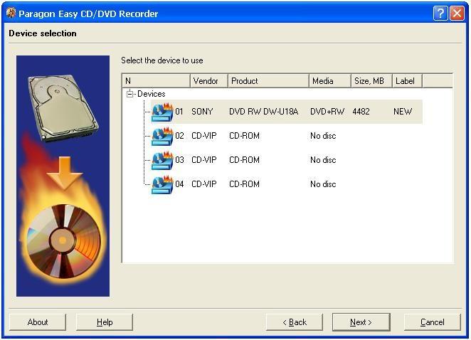 Paragon Easy CD-DVD Recorder