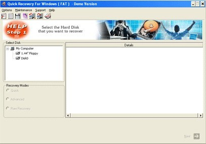 Quick Recovery for FAT - A Data Recovery Product