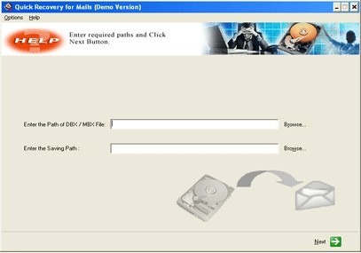 Quick Recovery for Outlook Express - A Data Recovery Software