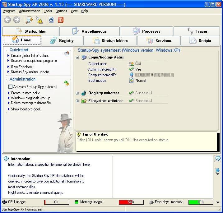 Startup-Spy XP 2006