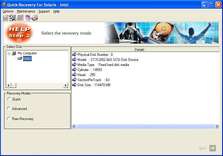 Sun Solaris INTEL Data Recovery by Unistal