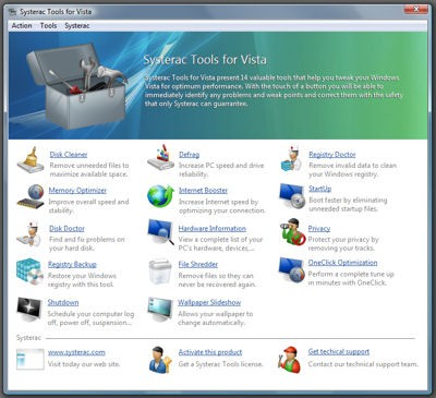 Systerac Tools for Vista