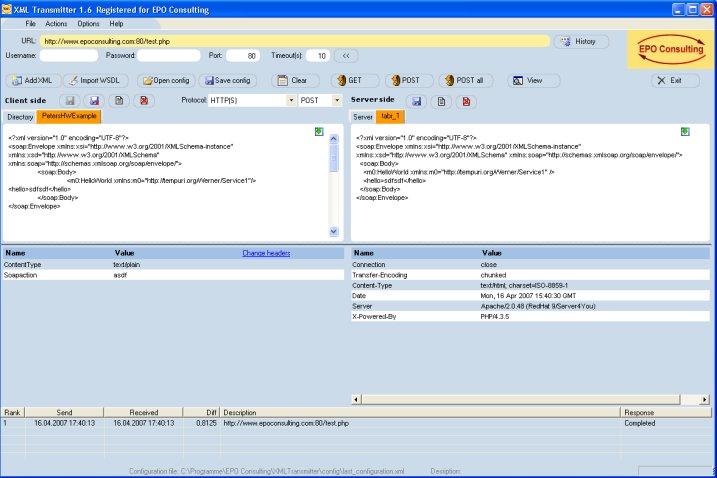 XML Transmitter