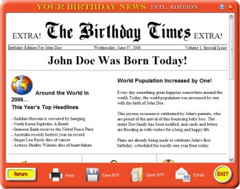Your Birthday News - Intl Edition