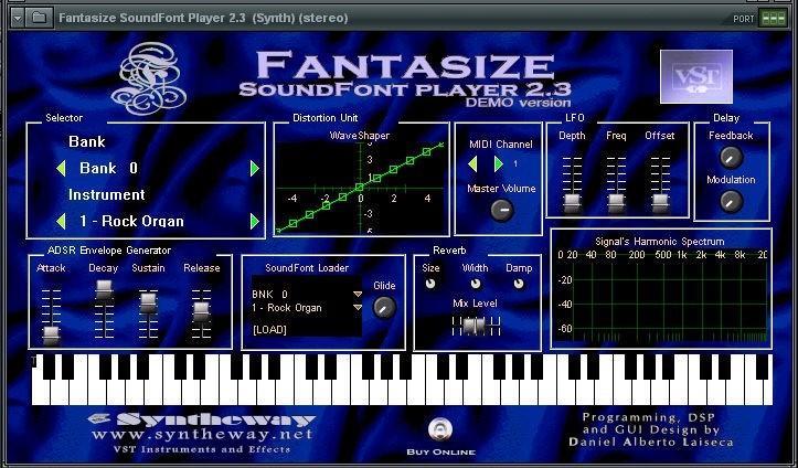 Fantasize Soundfont Player VSTi