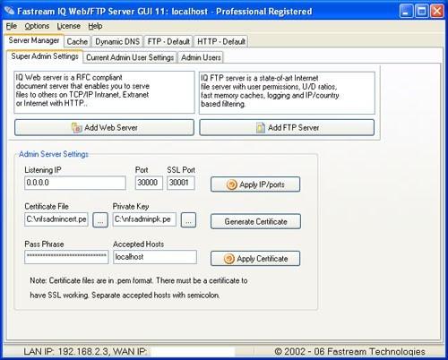 Fastream NETFile FTP/Web Server
