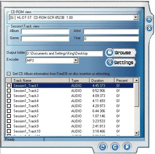 OSS CD Ripper N' ID3V2 Tag Editor
