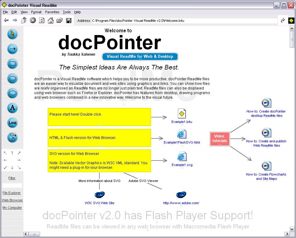 docPointer Visual ReadMe