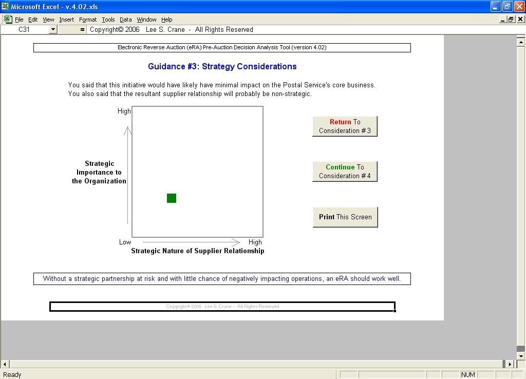 eRA Pre-Auction Decision Analysis Tool