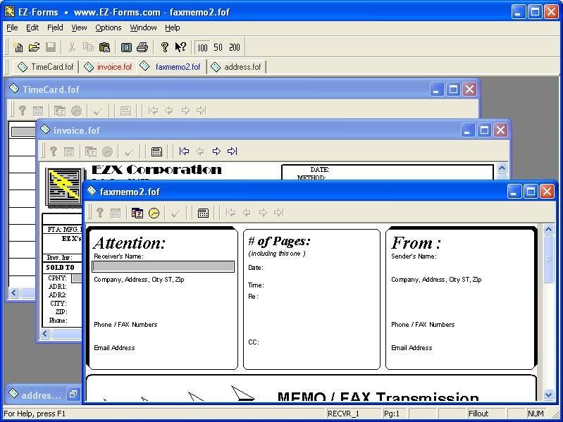 EZ-Forms Express Filler