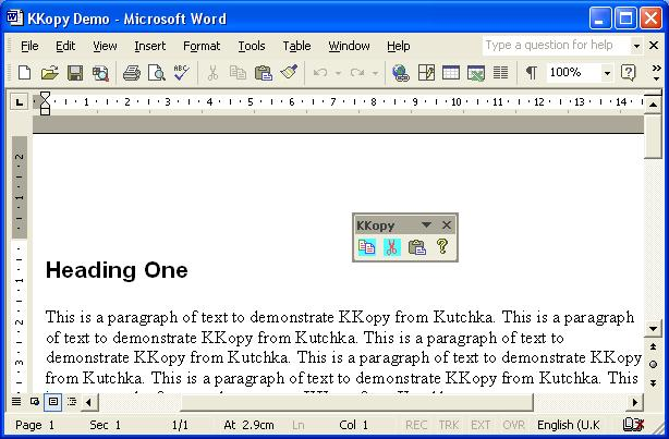 Paste tool for Microsoft Word that selects sections of text or in on…