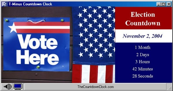 T-Minus Election Day Countdown