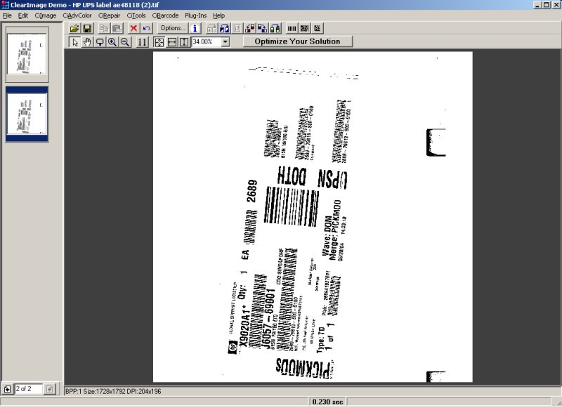 ClearImage Barcode 1D Pro
