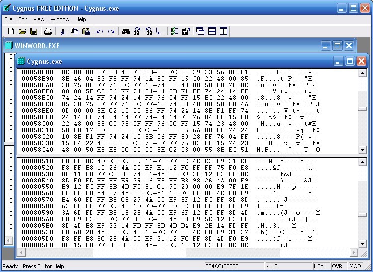 Cygnus Hex Editor FREE EDITION