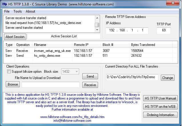 HS TFTP C Source Library