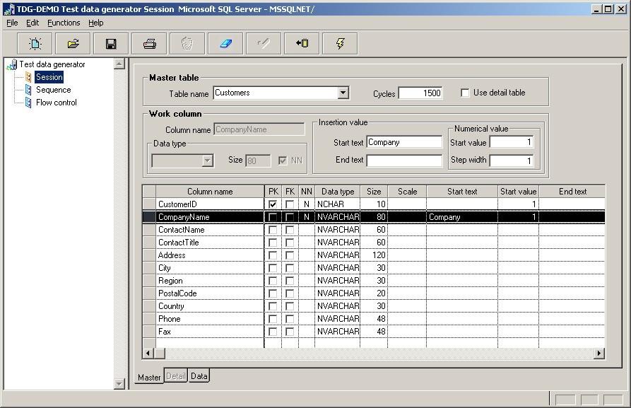 Test data generator TDG