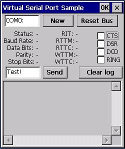 Virtual Serial Port ActiveX CE