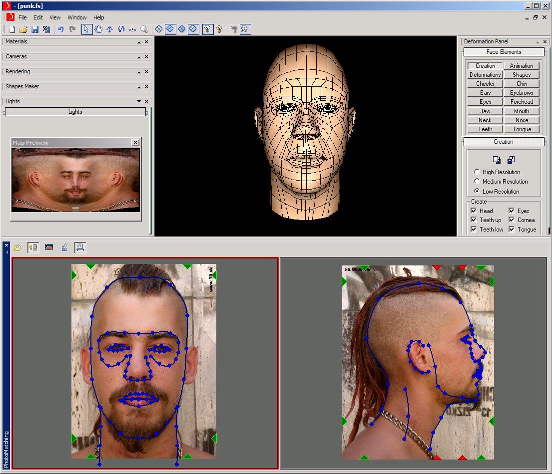 facial for Digimation studio
