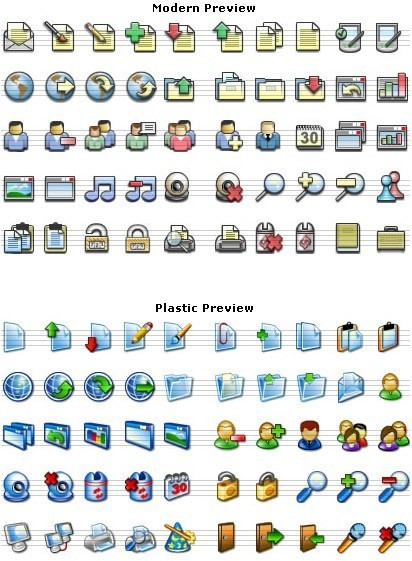 xp and mac style icons Free