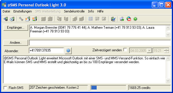 @SMS personal Outlook Light
