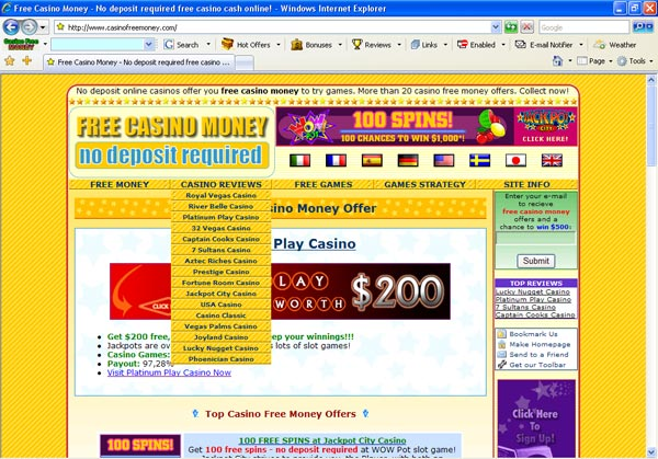 Casino Toolbar