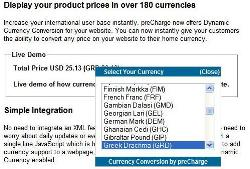 Dynamic Currency Conversion by preCharge