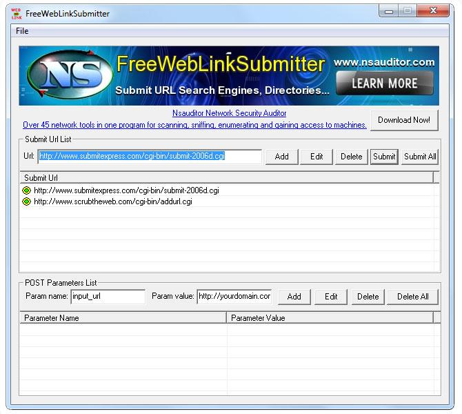 FreeWebLinkSubmitter