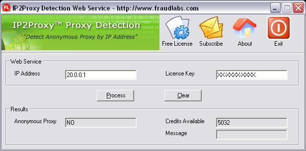 IP2Proxy Anonymous Proxy Detection (Desktop Application)