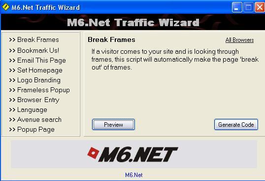 M6.Net Traffic Wizard