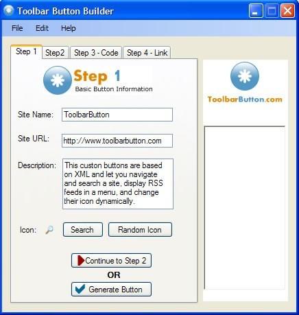 Toolbar Button Builder