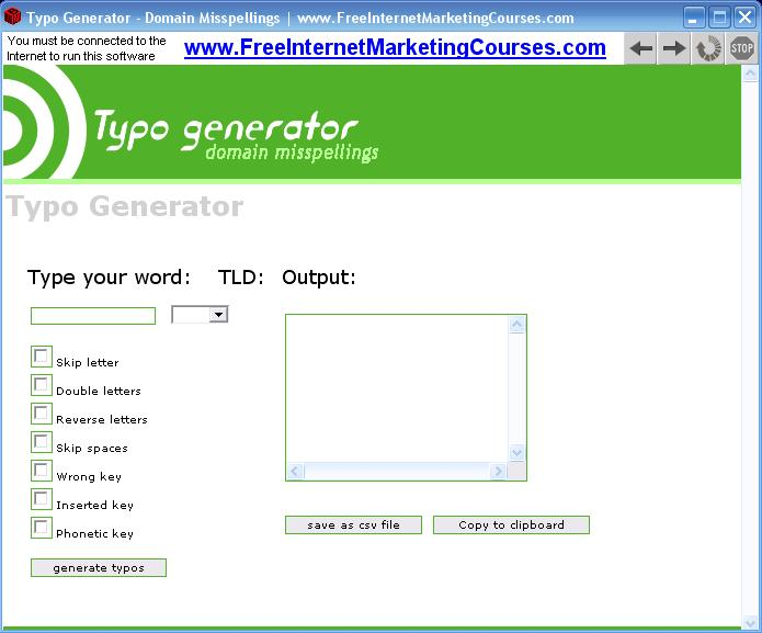 Typo Generator - Misspelled Domains