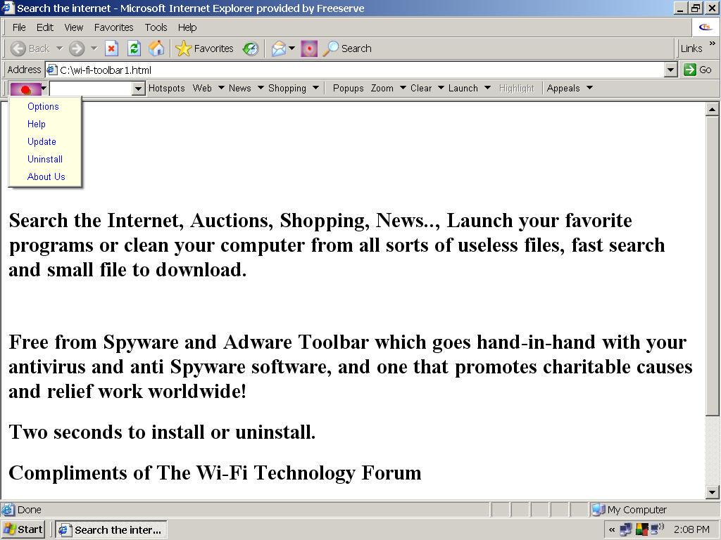Wi-Fi Toolbar