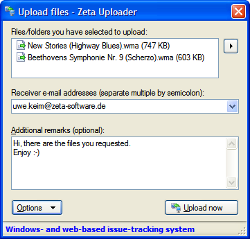 Zeta Uploader (Windows-Client)