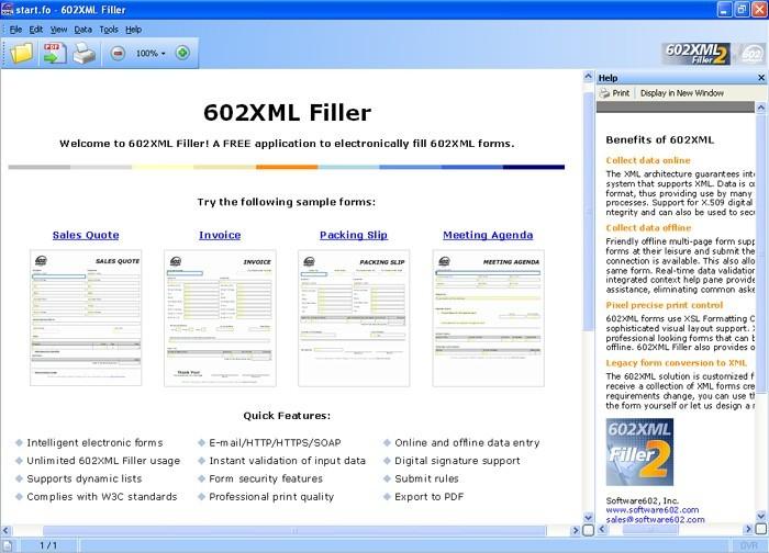 602XML Form Filler