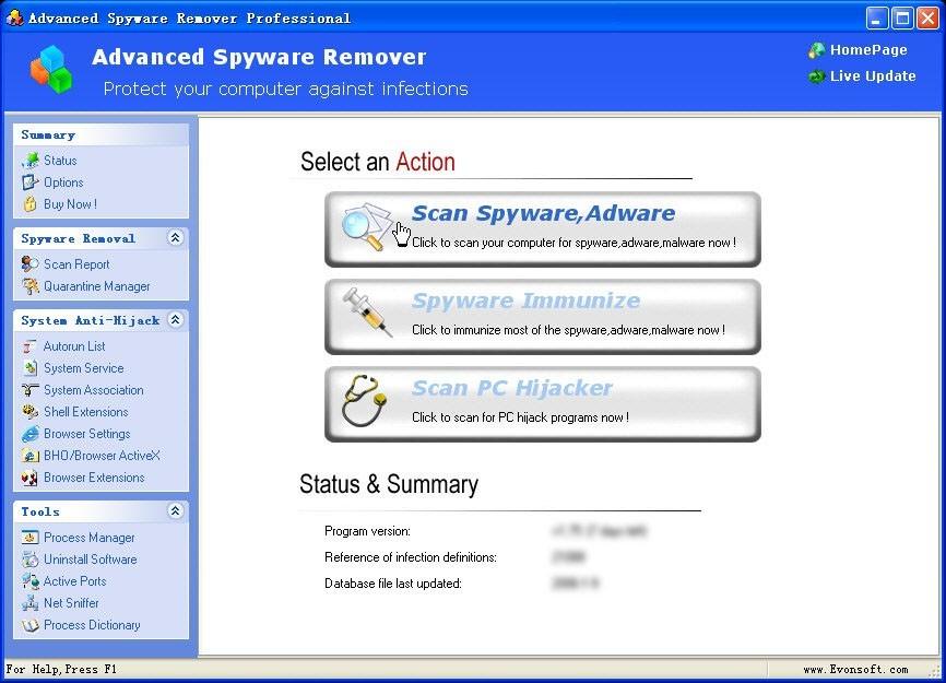 Advanced Spyware Remover