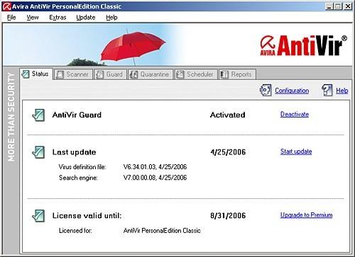 Avira AntiVir PersonalEdition - FREE
