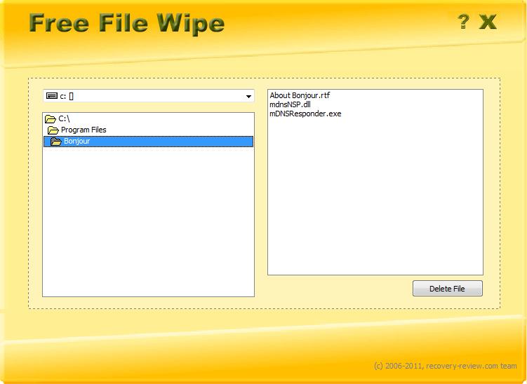 Free File Wipe