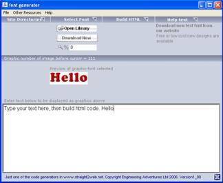 Graphic text generator