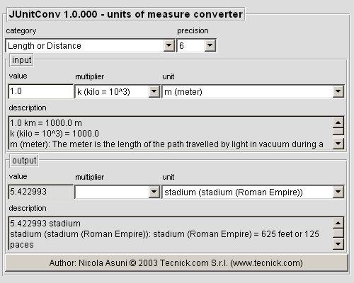 JUnitConv - Units Of Measure Converter