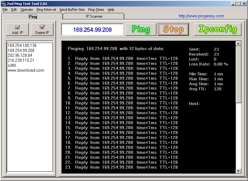 Ping Test Easy Freeware