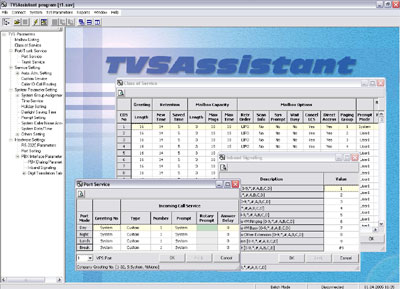TVSAssistant - Panasonic VPS administration software for TVS50 Voice Processing System.