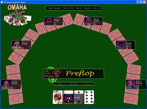 3D Omaha Holdem Poker