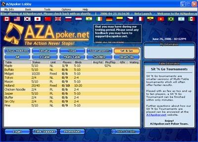 AZApoker.NET Online Poker Game Client