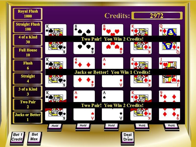 CG1 Triple Video Poker