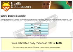 Calorie Burning Calculator