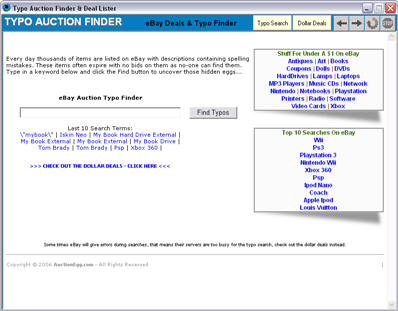 eBay Auction Typo Finder