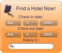 HotelSearch Yahoo! Widget