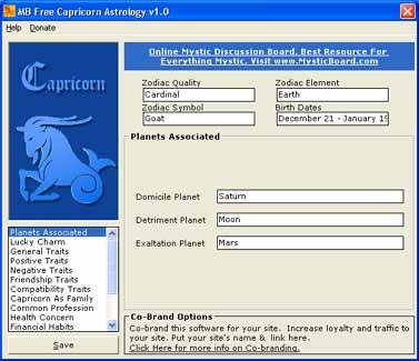 MB Free Capricorn Astrology